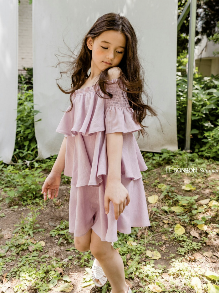Smock KangKang Blouse Lilac / Green (Woman/ Girl)