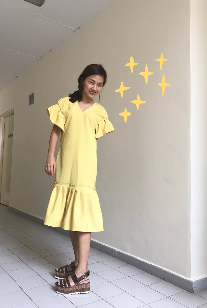 Princess Dress Yellow