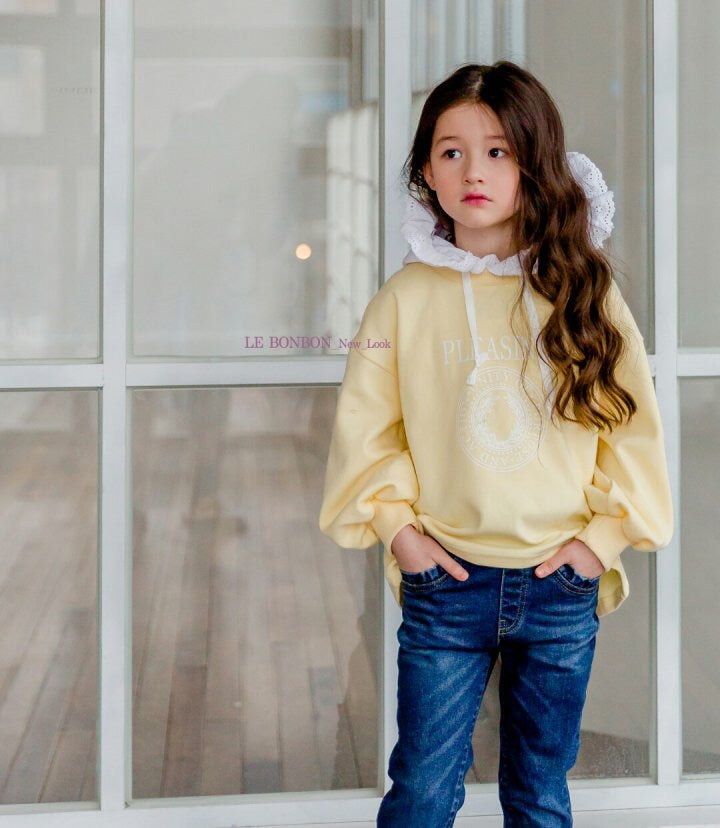 Crong Frill Hood Sweater Yellow [Woman/ Girl]