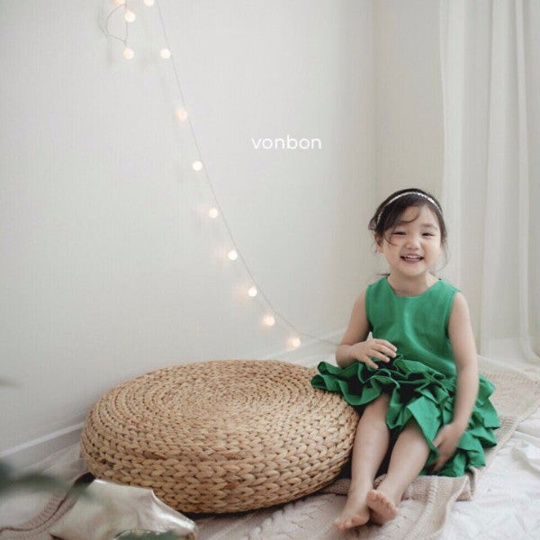 [PREORDER] Kayla Blossom Dress Green
