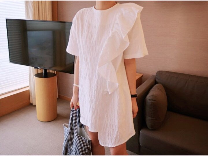 Wing Tunic Top White