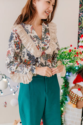 [PREORDER] Vintage Frill Blouse Ivory