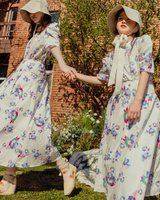 Twinning Margie & Jane Dress Pink/Blue Floral (Woman/Girl)