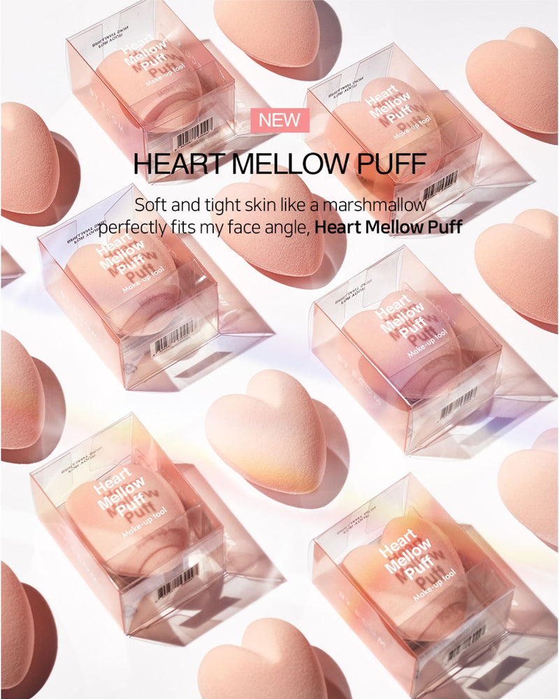 BY ECOM Heart Mellow Puff