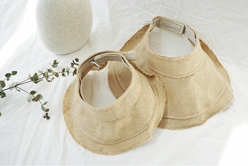 Natural Suncap (Cream/ Beige/ Black) (Mum/Kid)