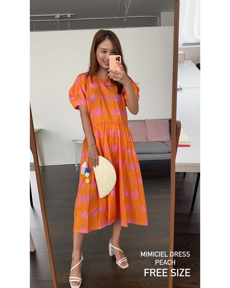 Mimiciel Summer Dress in Peach / Yellow
