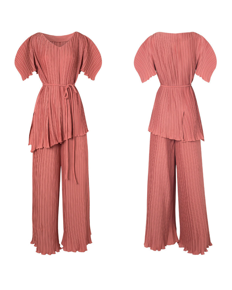 Avant-garde Pleats Set (Pink, Navy, Black)