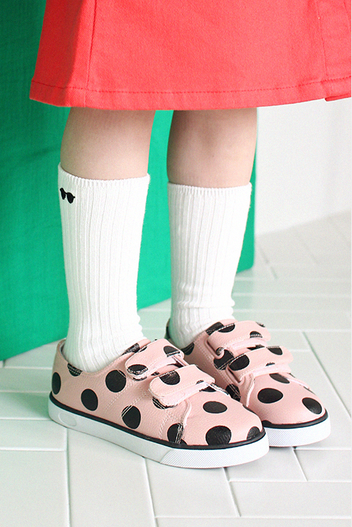 Polka Dot Sneakers (Pink)