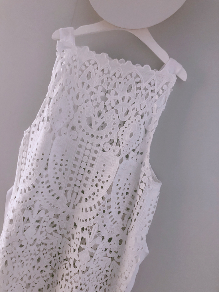 Lace Robe White
