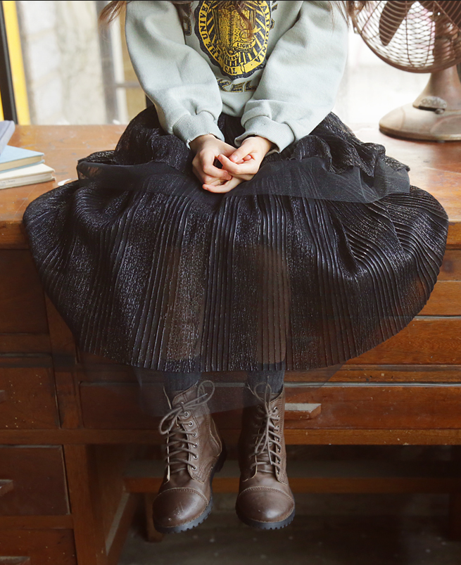 2 Layered Tutu Skirt Black