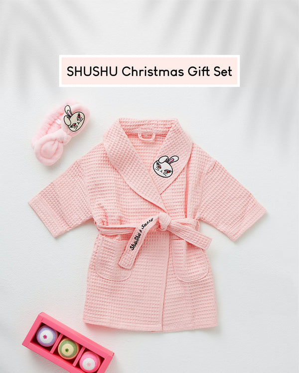 [PROMO] Shushu Christmas Gift Set (Shower Robe, Hairband, Spa Bubble Ball)