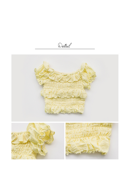 Pomie Top Yellow + Pellota Skort Blue Set