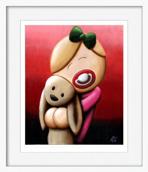 Cuddle Bunny - Framed Limited Edition Print