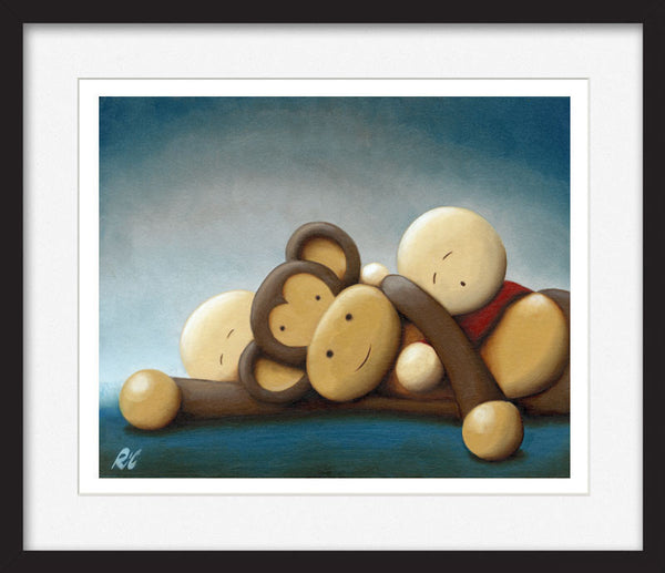 Cheeky Monkeys II - Framed Limited Edition Print