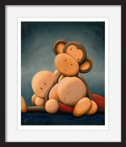 Cheeky Monkeys III - Framed Limited Edition Print