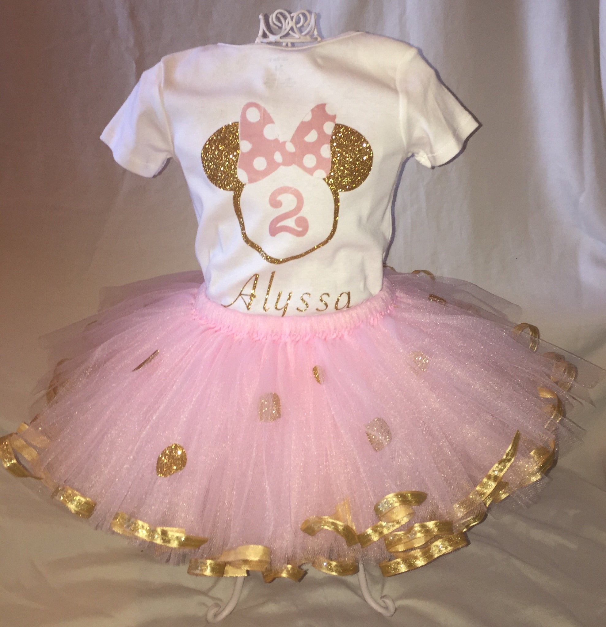 Pink And Gold Minnie Mouse Inspired Outfit Cartoon Palace