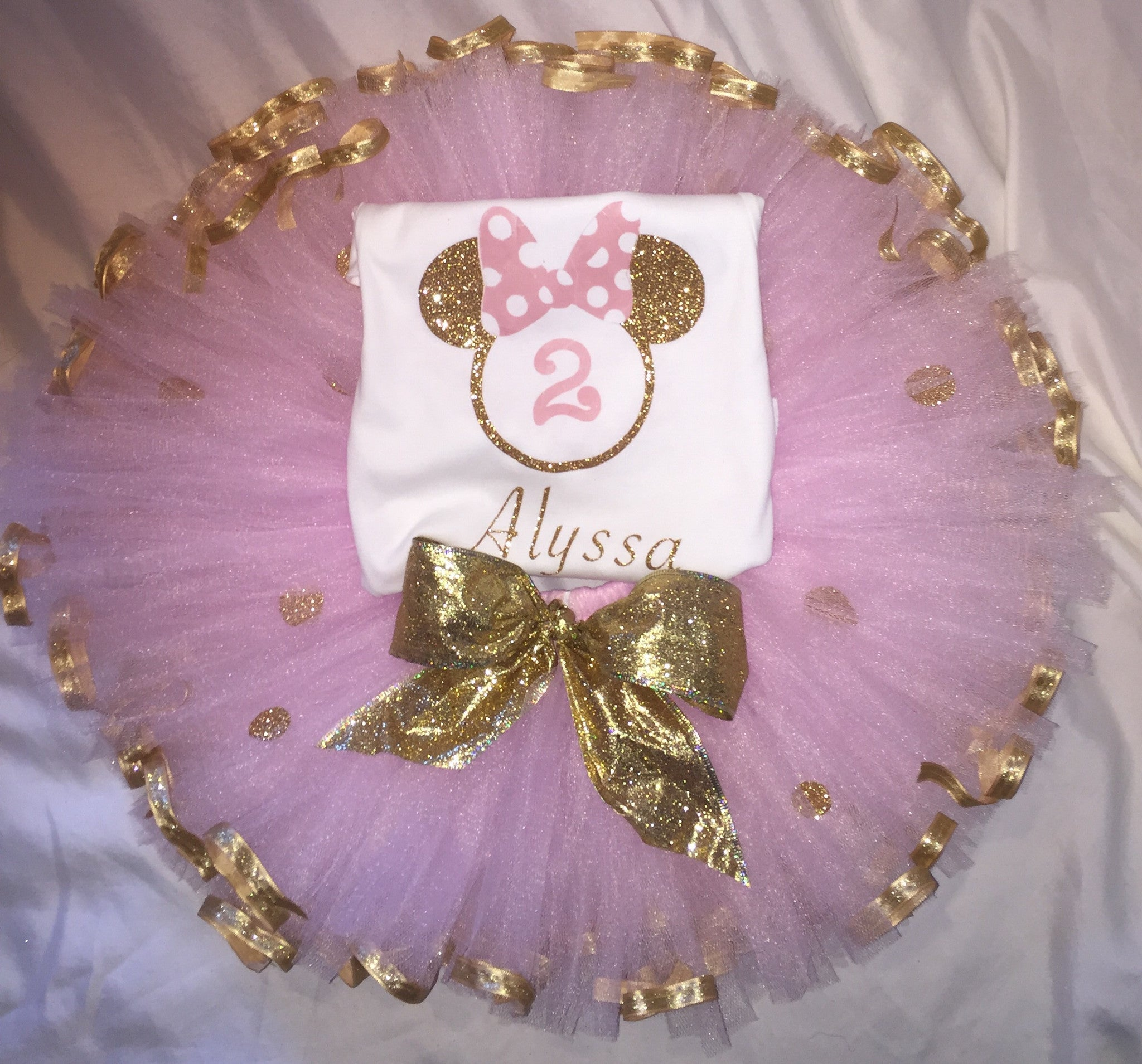 0c36c2a31 Pink and Gold Minnie Mouse Inspired Outfit – Cartoon Palace