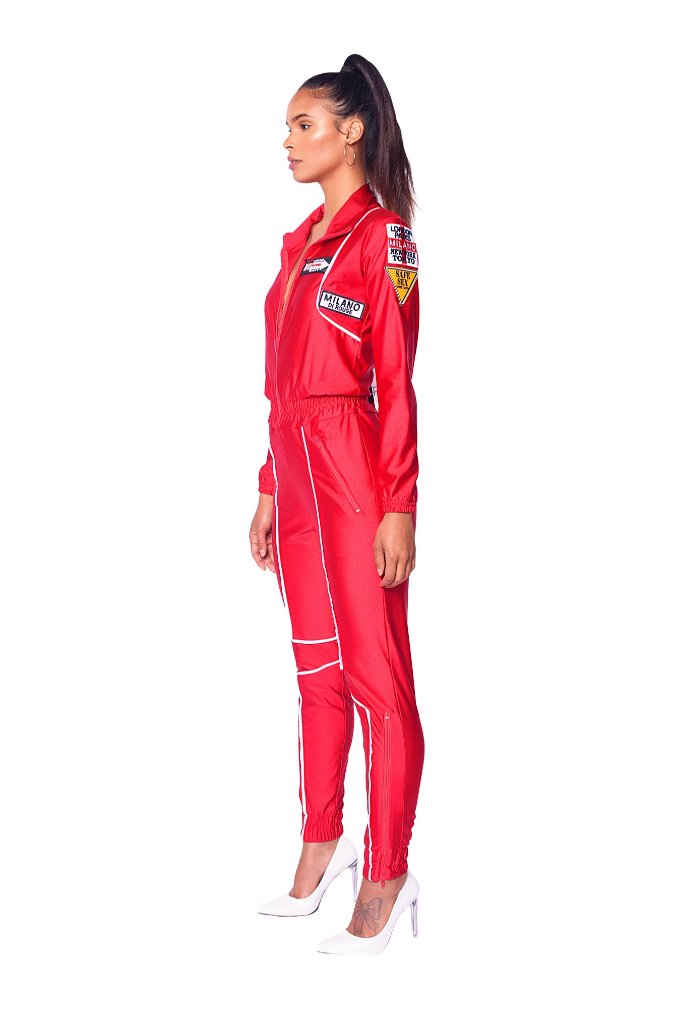 Scarlet Venus and Mars Jumpsuit