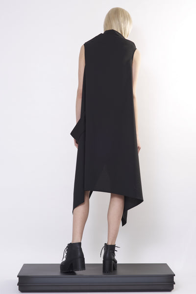 Asymmetric Tied-up Dress