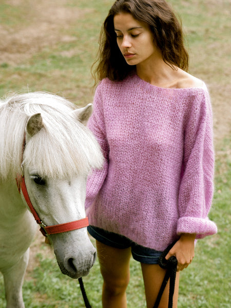 Hand Knit Mohair Sweater