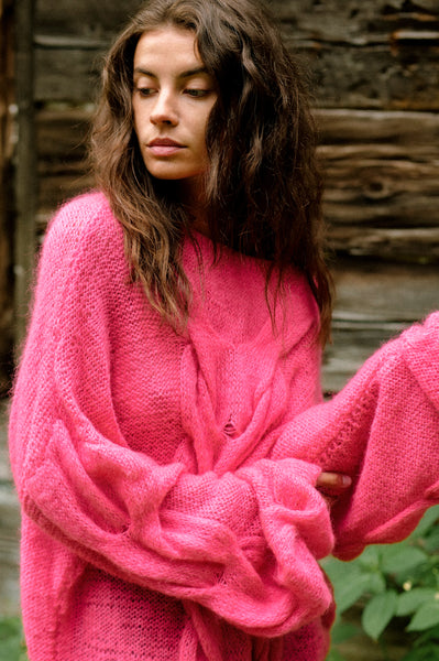 Hand Knit Mohair Rich Sweater