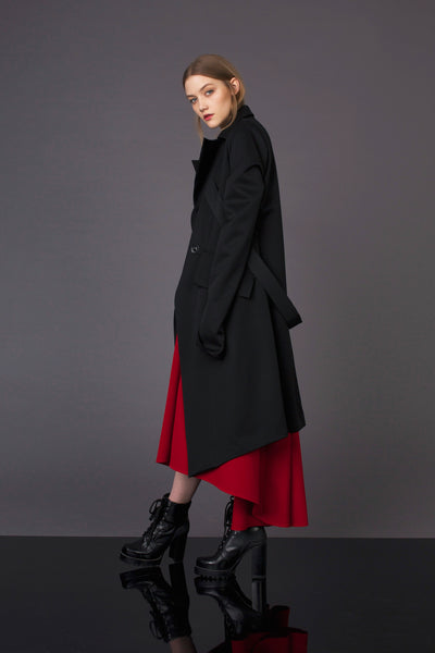 Limited Black Long Sleeves Coat