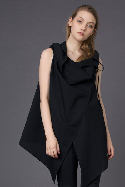 Wrap Front Black Top