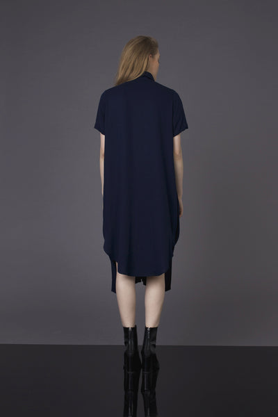 Dark Blue Shirt-Dress