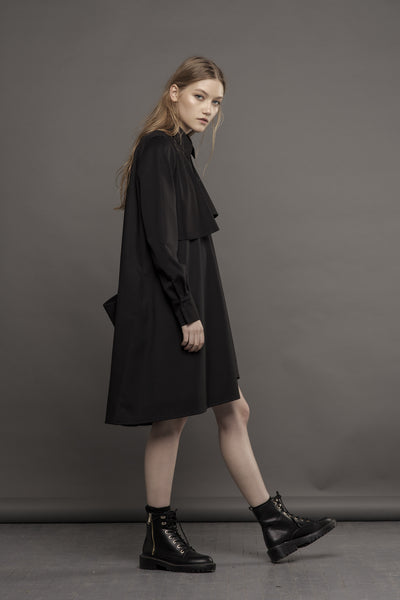 Shirt-Dress with Pockets on the Back