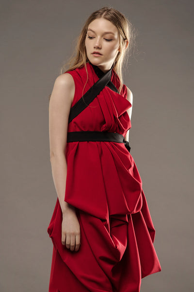 Red Signature Dress By D. Paukstyte