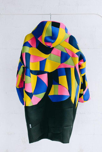 MOSAIC NEOPRENE COAT - DOUBLE SIDED - ONE SIZE