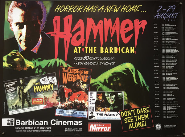 Hammer At The Barbican (Film Festival)