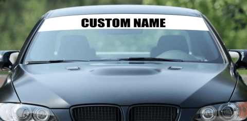Custom Name Window Banner - Box Font