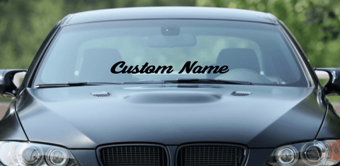 "30"" Custom Name Window Decal - Cursive Font"