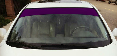"Purple 6"" or 12"" Vinyl Windshield Banner"