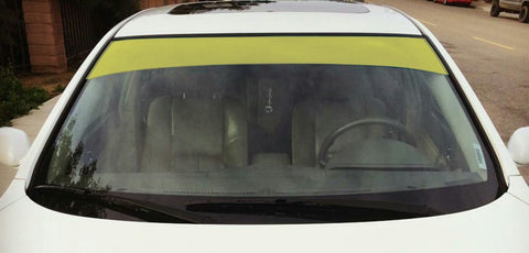 "Yellow 6"" or 12"" Vinyl Windshield Banner"