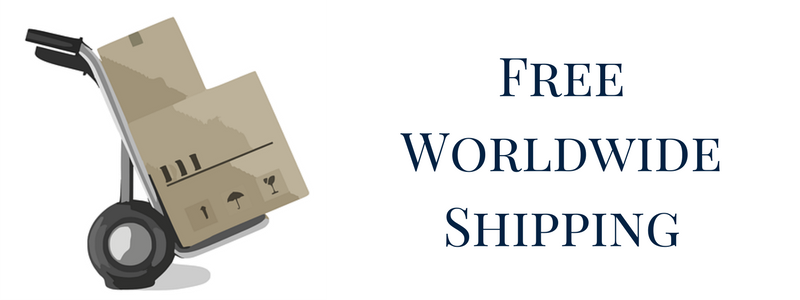 We offer free worldwide shipping
