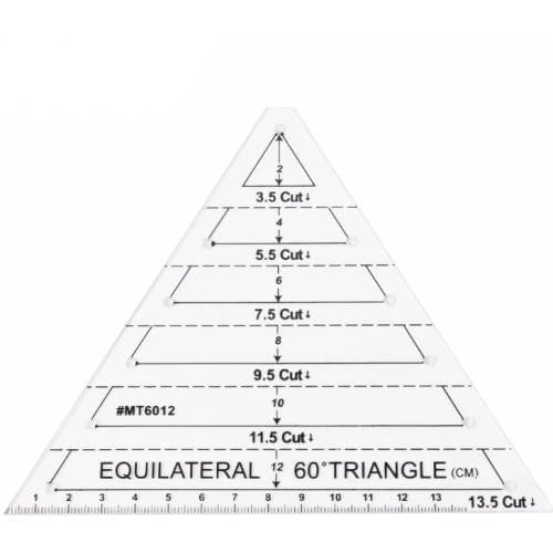 60° Equilateral Triangle Quilting Ruler
