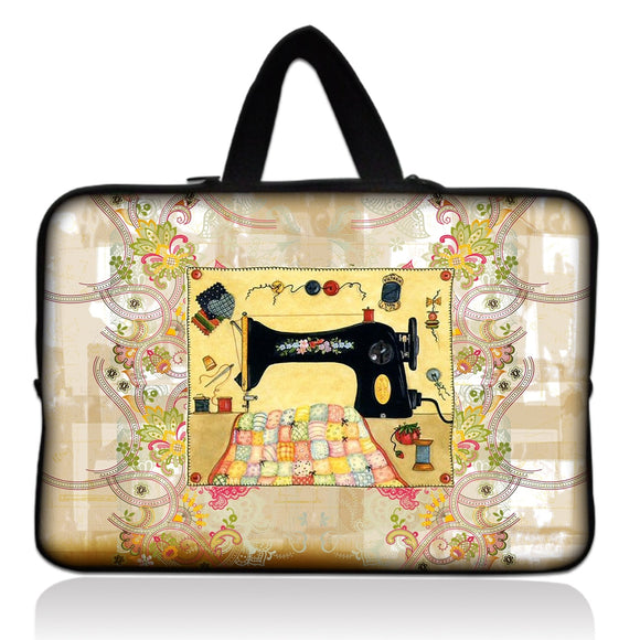 Sewing Machine Print Laptop Bag
