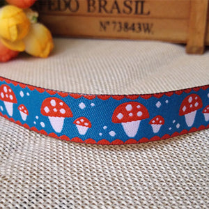 Pet Embroidered Woven Jacquard Ribbon - 5 Yards