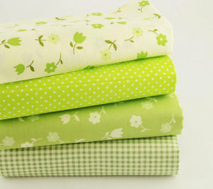 "Apple Green Twill Cotton Fabric -15.7"" x 19.7"" - 4pcs/pack"