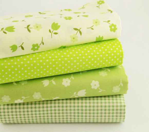 Apple Green Twill Cotton Fabric -15.7