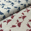 "Bird Prints Cotton Linen Fabric - 9.4"" x 9.8"" - 4pcs/pack"