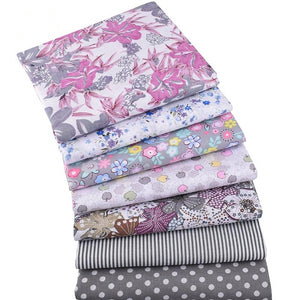 "Summer & Floral Prints Cotton Fabric - 19.7"" x 19.7"" - 7pcs/Pack"