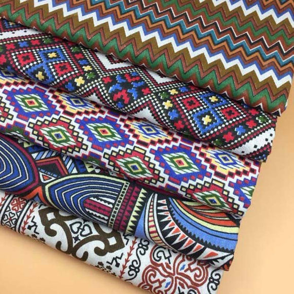 Bohemian Pattern Prints Cotton Fabric - 8.6