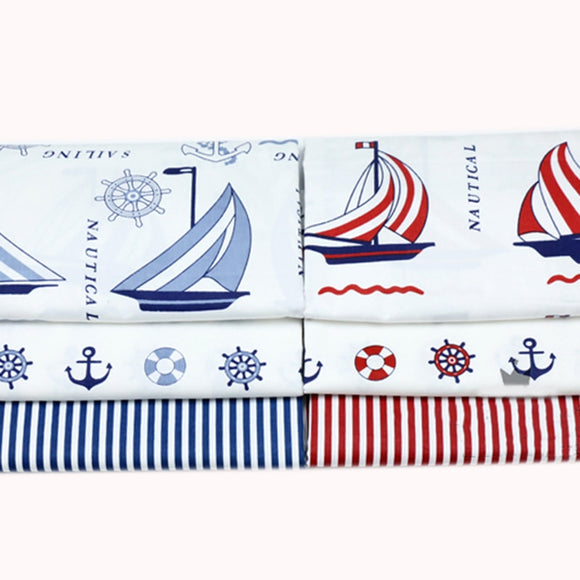 Nautical Print Cotton Fabric - 15.7