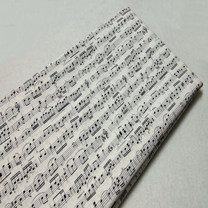 "Musical Note Print Twill Cotton Fabric - 19.7"" x 43.3"""