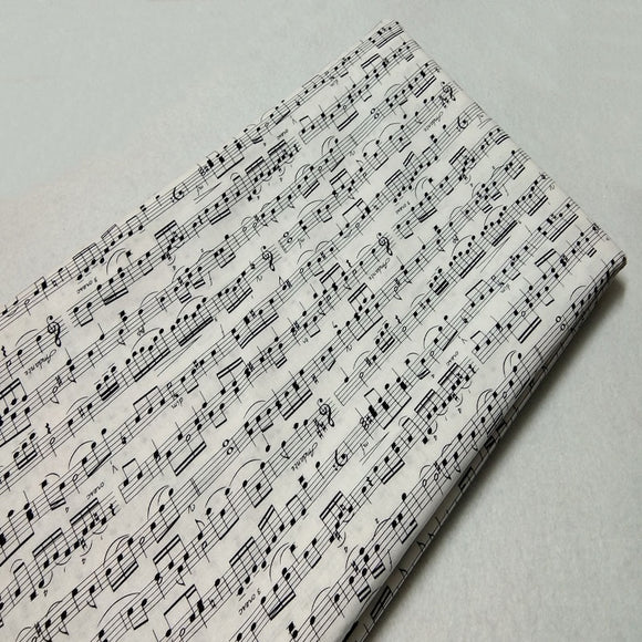Musical Note Print Twill Cotton Fabric - 19.7