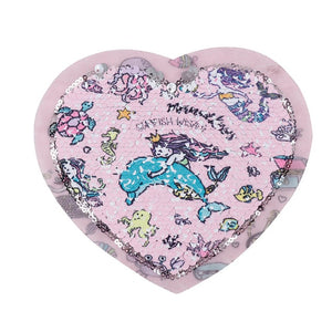 Heart-Shaped Sequin Patch
