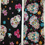 "Printed Skull Twill Cotton Fabric - 9.8"" x 9.8"" - 4pcs/Pack"